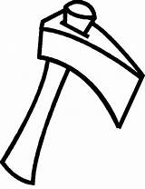 Hatchet Coloring Pages Wood Split Clip Clipart sketch template