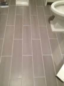 guest bath plank style floor tiles in gray sarah