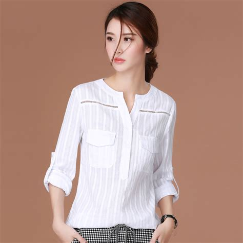 blouse cuisine femme white blouses casual blusas y camisas mujer chemise