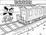 Coloring Train Safety Pages Colouring Moving sketch template