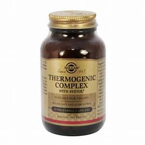 Thermogenic Complex Supplement In 60capsules From Solgar