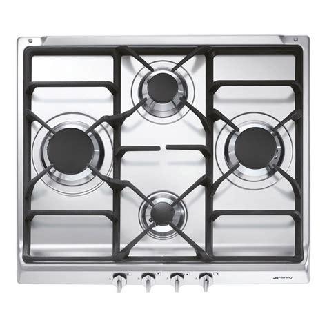 plaque cuisine gaz plaque de cuisson gaz 4 foyers inox smeg s60ghs leroy merlin