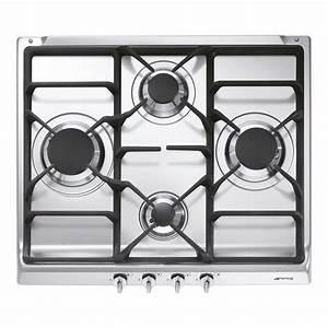 Plaque De Cuisson Gaz Smeg : plaque de cuisson gaz 4 foyers inox smeg s60ghs leroy merlin ~ Melissatoandfro.com Idées de Décoration