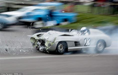 mercedes sls  crashed   million  jaguar