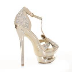 Gold High Heel Prom Shoes