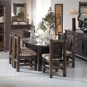 table salle a manger wenge avec rallonge With salle a manger wenge conforama