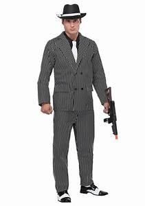 Menu0026#39;s Wide Pin Stripe Gangster Costume