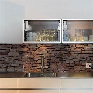 Küchenrückwand Glas Foto : k chenr ckwand aus glas bedruckt mit motiv steinmauer ~ Michelbontemps.com Haus und Dekorationen