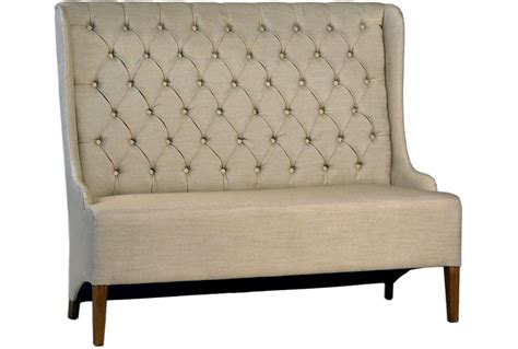 upholstered dining bench with back otb upholstered tufted back dining bench living spaces