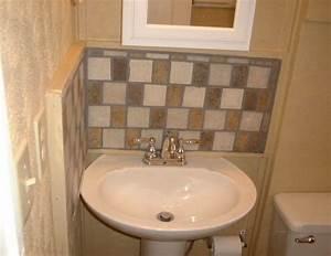 Pedestal sink backsplash ideas bathroom sink backsplash for Pedestal sink backsplash ideas