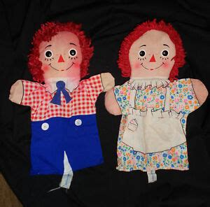vintage knickerbocker raggedy andy puppets 640 | $ 35