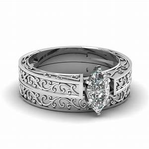 filigree design set fascinating diamonds With filigree wedding ring sets
