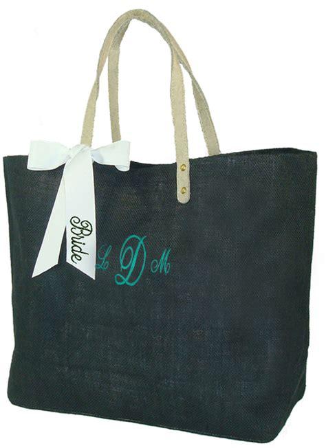 bridesmaid tote bag monogram personalized