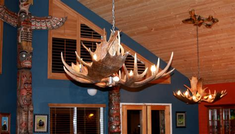 unique antler chandeliers in northwest montana