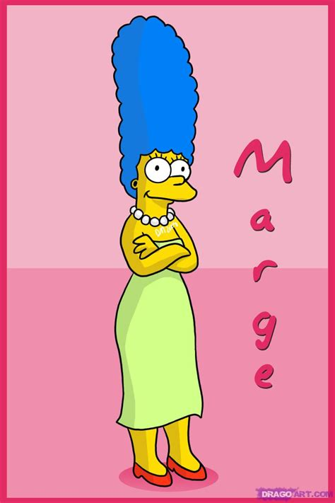 how to draw marge by characters pop culture
