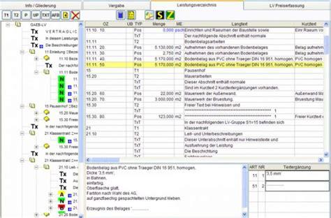 leistungsverzeichnis erstellen freewarede