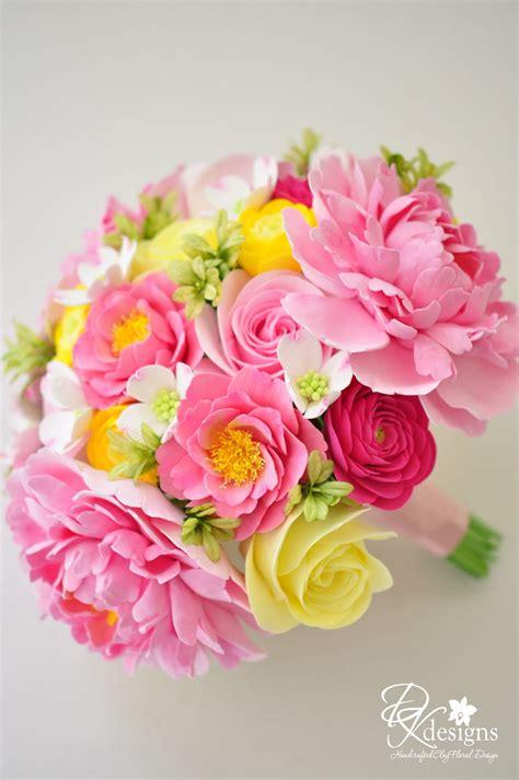 dk designs pink  yellow wedding bouquet   southern