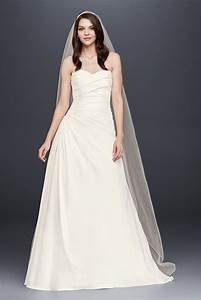 david39s bridal strapless a line drop waist wedding dress With drop waist a line wedding dress