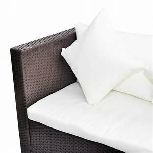Polyrattan Lounge Set : brown poly rattan lounge set with storage chest ~ Whattoseeinmadrid.com Haus und Dekorationen