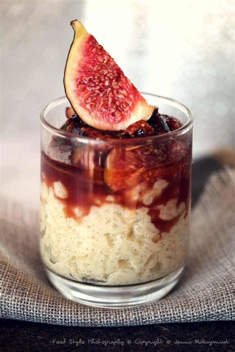 riz au lait vanill 233 et sa figue confite facile et pas cher recette sur cuisine actuelle