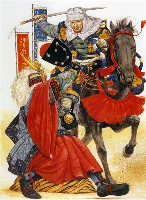 Duel between Takeda Shingen and Uesugi Kenshin at the ...