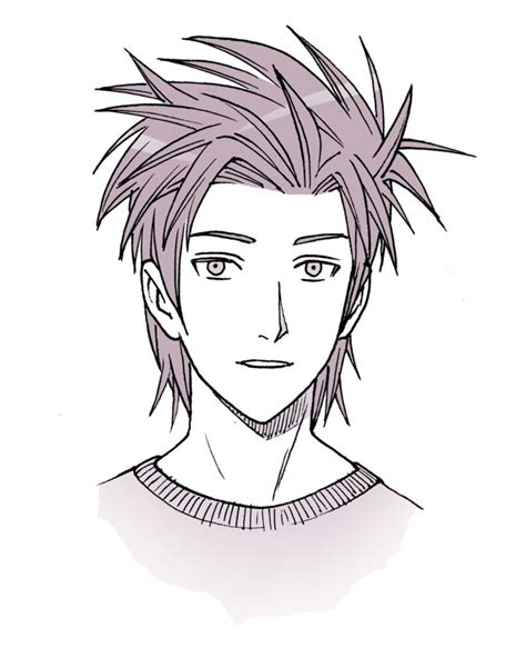 Vector illustration of green spiky haircut guy free svg. Drawing Anime Hair for Male and Female Characters | Manga hair, How to draw hair