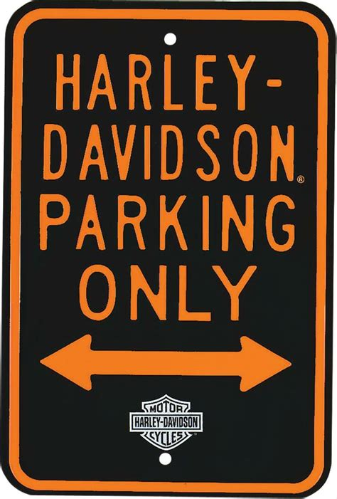 Harley Davidson Signs Decor by Harley Davidson 174 Parking Only Sign Free Shipping