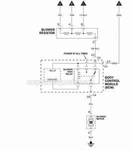 Blower Motor Circuit Wiring Diagram  2006