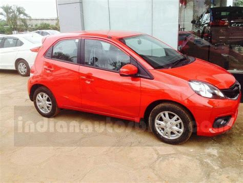 honda brio facelift spotted at an indian dealership launch soon motoroids