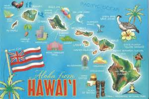 housewarming gift basket hawaii state map postcard