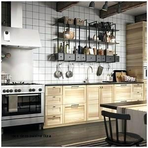 Etagere Cuisine Ikea : idee deco cuisine ikea cuisine industrielle ikea aclacgant ~ Melissatoandfro.com Idées de Décoration