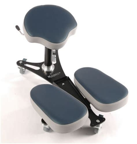 siege assis genoux stag4 banc ergonomique pour le travail assis genoux