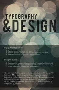 typography design a small poster made to talk about