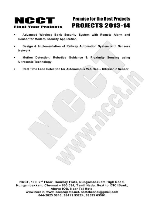 03 2013-14 embedded systems project list - non ieee based