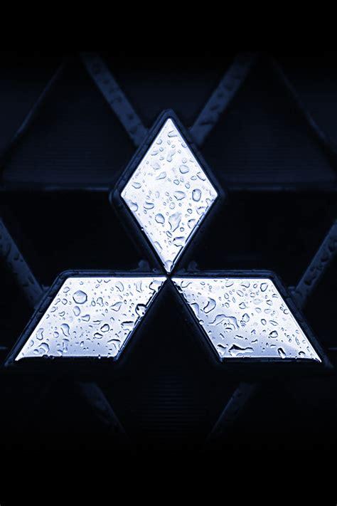 mitsubishi logo iphone wallpaper hd