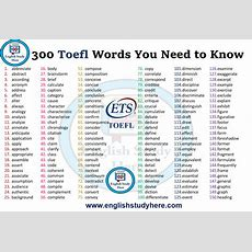 300 Toefl Words You Need To Know  English Study Here