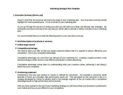 marketing policy template  examples  word