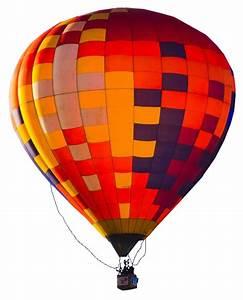 Hot air balloon in Flight no background
