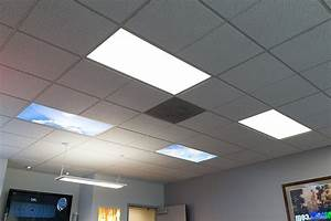 Led skylight dimmable even glow? panel light w skylens? summer sky flush mount