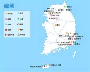 旅遊地圖 韓國 可樂旅遊 康福旅行社