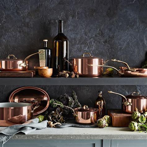 mauviel copper  piece cookware set williams sonoma au