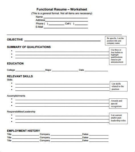 Functional Cv by Functional Cv Template 7 Documents In Pdf