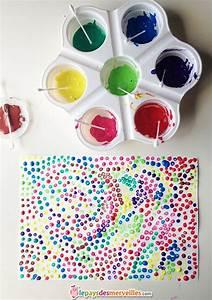 Peinture enfant coton tige dessins et peintures for Comment faire des couleurs 18 point art wikipedia