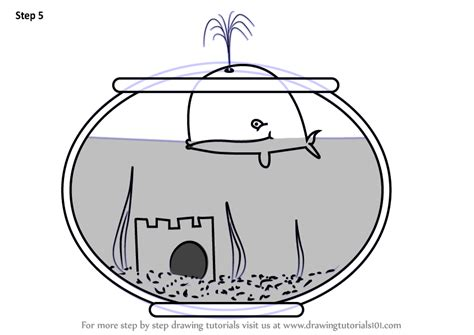 learn   draw  fish tank everyday objects step