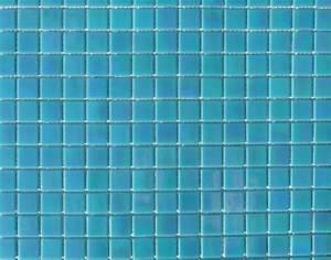 mosaique pate de verre gloss nacre teinte bleu turquoise With carreaux pate de verre