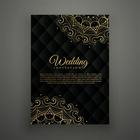 indian wedding card  vector art   downloads