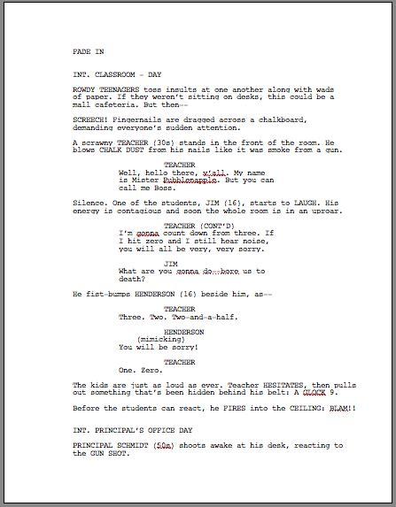 script formatting scriptangels blog