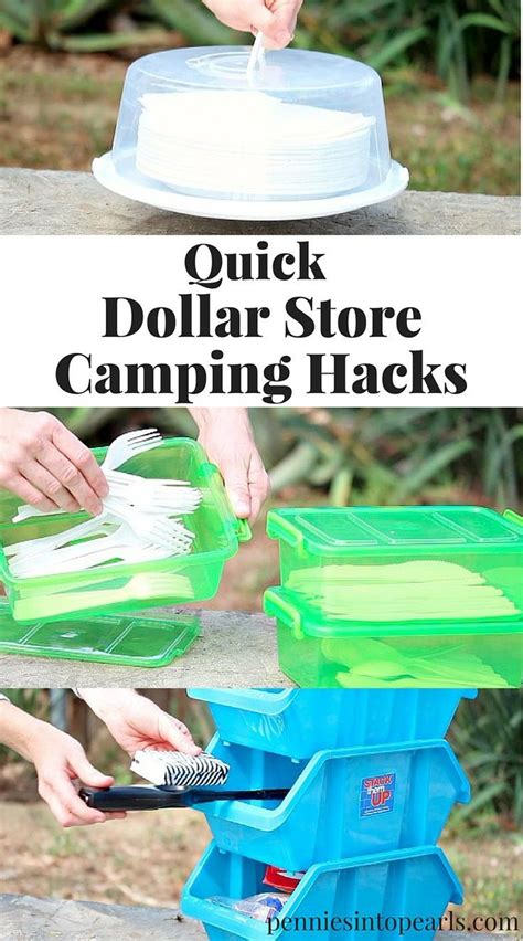 quick  easy dollar store camping hacks comfortable camping cheap camping supplies diy camping