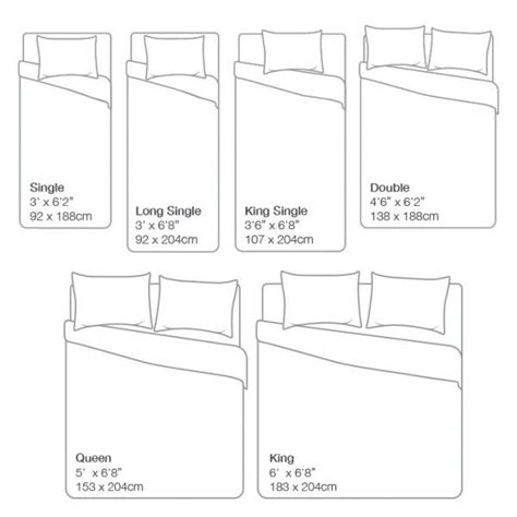 bed size charts ideas  pinterest bed sizes bed measurements ireland  murphy bed