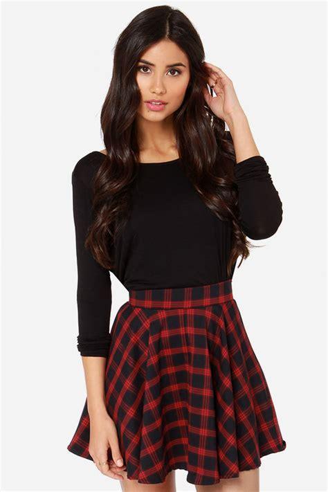 band waist plaid mini skirt skirt plaid skirt mini skirt high waisted skirt